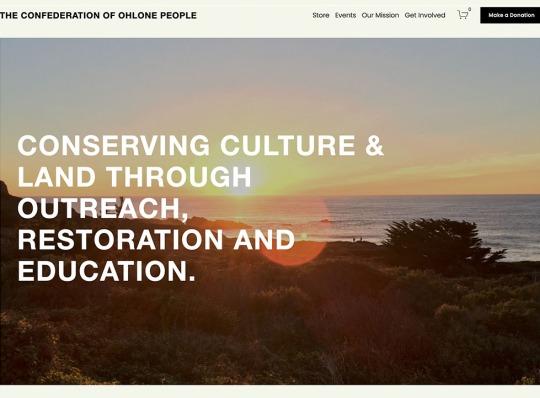 Ohlone people - web design